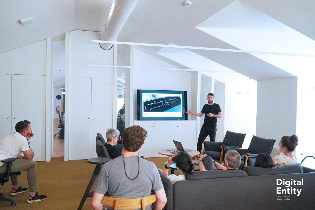Speaking at Digital Entity offices, Milan